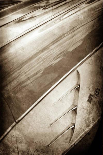 Wall Art - Photograph - 1958 Chevrolet Corvette Emblem -0388s by Jill Reger