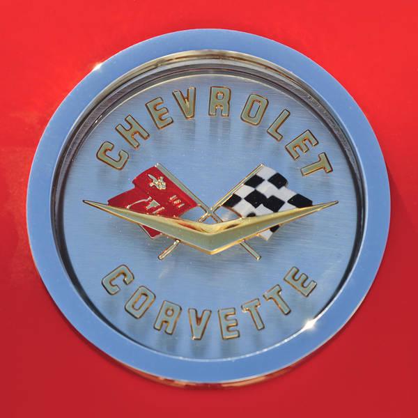 Photograph - 1958 Chevrolet Corvette Emblem by Jill Reger