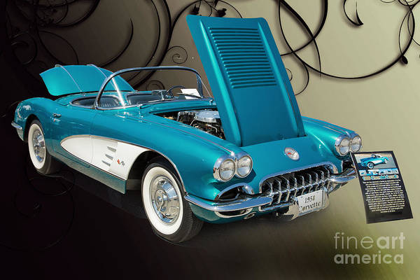 Photograph - 1958 Corvette By Chevrolet And A Color Photograph 3484.02 by M K Miller