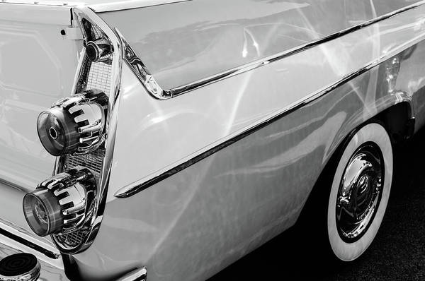 Photograph - 1958 Dodge Sweptside Truck Taillights -0037bw by Jill Reger