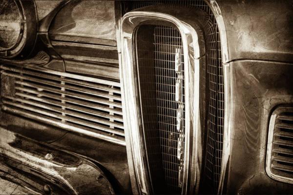 Photograph - 1958 Edsel Pacer Grille Emblem -0018s by Jill Reger
