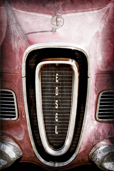 Photograph - 1958 Edsel Roundup Grille Emblem - Hood Ornament -0451ac by Jill Reger