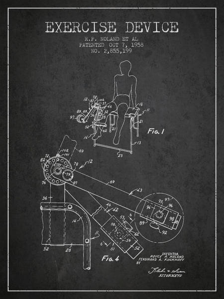 1958 Exercise Device Patent Spbb11_cg Art Print