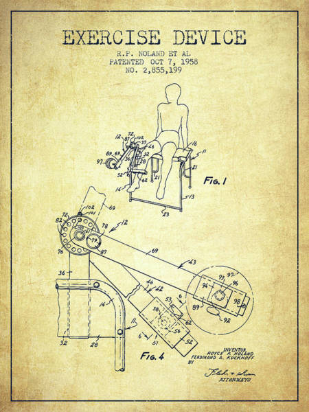 1958 Exercise Device Patent Spbb11_vn Art Print
