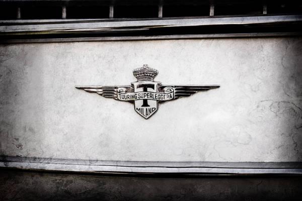 Wall Art - Photograph - 1958 Maserati 3500 Gt Berlinetta By Touring Emblem -0177ac by Jill Reger