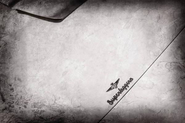 Wall Art - Photograph - 1958 Maserati 3500 Gt Berlinetta By Touring Hood Emblem -0167ac by Jill Reger