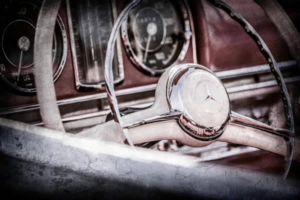 Wall Art - Photograph - 1958 Mercedes-benz 300sl Roadster Steering Wheel -1131ac by Jill Reger