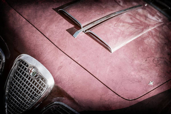 Wall Art - Photograph - 1959 Alfa Romeo 2000 Spider Grille Emblem -0482ac by Jill Reger