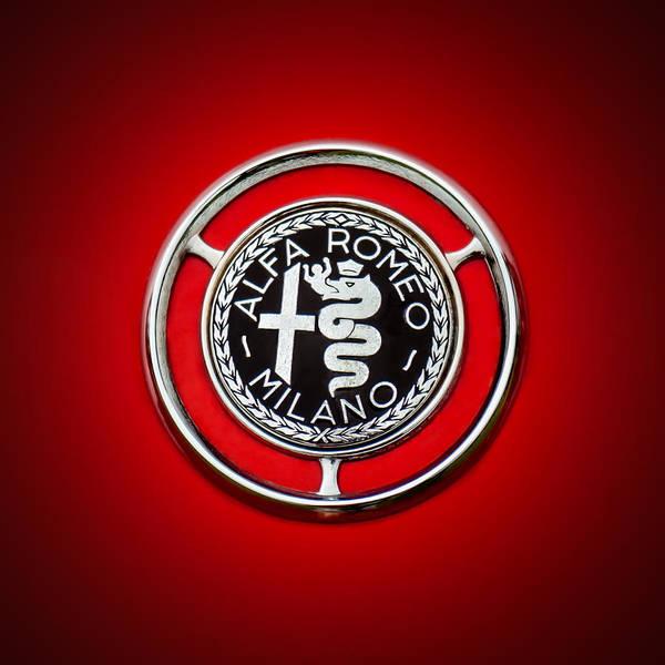 Photograph - 1959 Alfa Romeo Giulietta Sprint Emblem -0128c1 by Jill Reger