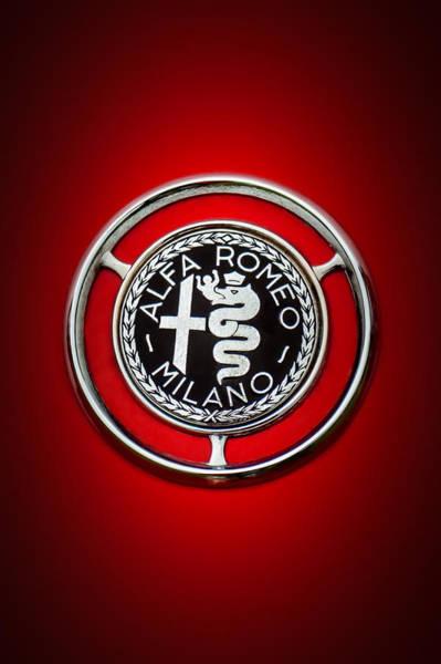 Wall Art - Photograph - 1959 Alfa Romeo Giulietta Sprint Emblem -0128c5 by Jill Reger