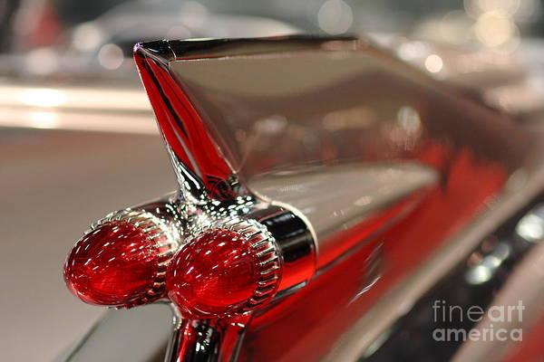 Photograph - 1959 Cadillac Convertible . Wing View Closeup by Wingsdomain Art and Photography