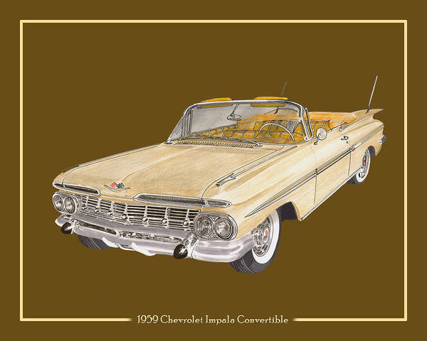 Special Offer Painting - 1959 Chevrolet Impala Convertible by Jack Pumphrey