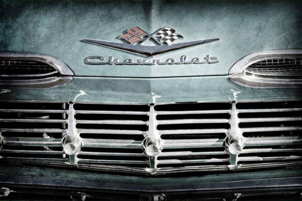 Wall Art - Photograph - 1959 Chevrolet Impala Grille Emblem -1014ac by Jill Reger