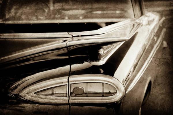 Wall Art - Photograph - 1959 Chevrolet Impala Taillight -0418s by Jill Reger