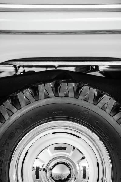 Wall Art - Photograph - 1959 Chevrolet Napco Fleetside Wheel -1583bw by Jill Reger