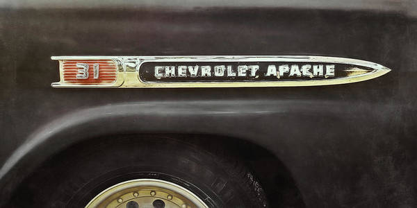 Black Car Photograph - 1959 Chevy Apache by Scott Norris