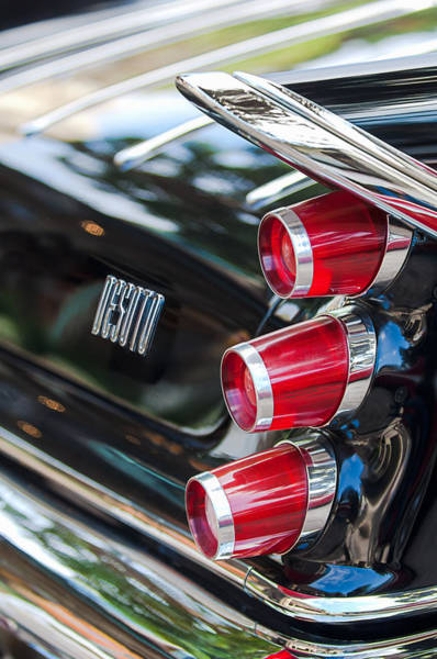 Wall Art - Photograph - 1959 Desoto Adventurer Hardtop Coupe 2-door Taillight Emblem by Jill Reger