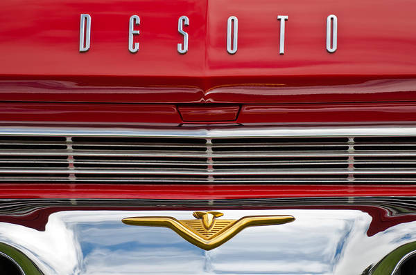 Photograph - 1959 Desoto Firesweep 2-door Hardtop Emblem by Jill Reger