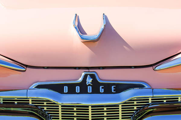 Photograph - 1959 Dodge Coronet Emblem - Hood Ornament -0903c by Jill Reger