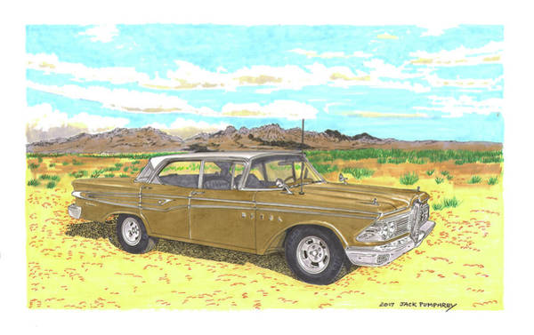 Wall Art - Painting - 1959 Edsel Corsair by Jack Pumphrey