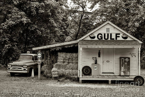 Photograph - 1959 Gmc And Gulf Sign by Thomas R Fletcher