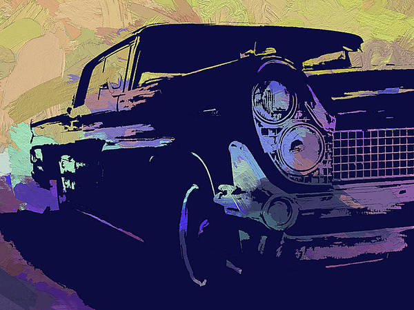 Digital Art - 1959 Lincoln Continental Abs by David King