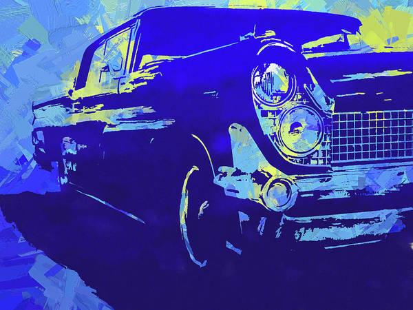 Digital Art - 1959 Lincoln Continental Blue Pop by David King