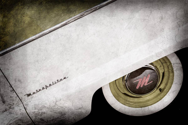 Photograph - 1959 Nash Metropolitan 1500 Convertible Wheel Emblem -0388ac by Jill Reger