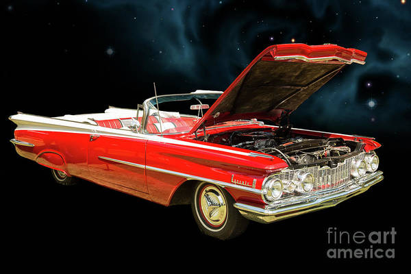 Photograph - 1959 Oldsmobile Convertible 5539.01 by M K Miller