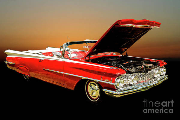 Photograph - 1959 Oldsmobile Convertible 5539.02 by M K Miller