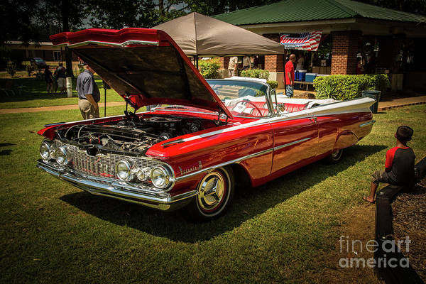 Photograph - 1959 Oldsmobile Convertible 5539.06 by M K Miller