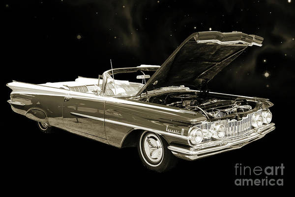 Photograph - 1959 Oldsmobile Convertible 5539.13 by M K Miller