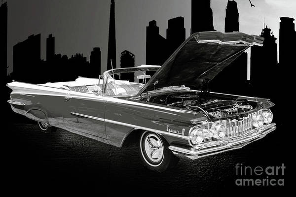 Photograph - 1959 Oldsmobile Convertible 5539.16 by M K Miller