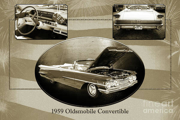 Photograph - 1959 Oldsmobile Convertible 5539.17 by M K Miller