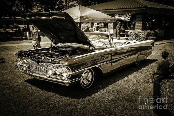 Photograph - 1959 Oldsmobile Convertible 5539.18 by M K Miller