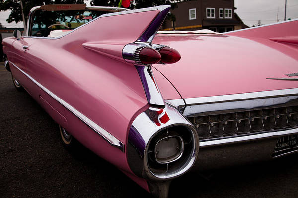 Photograph - 1959 Pink Cadillac Convertible by David Patterson