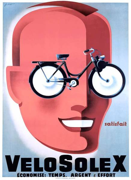 Wall Art - Digital Art - 1959 Velosolex Powered Bicycle French Advertising Poster by Retro Graphics