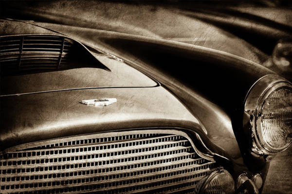 Wall Art - Photograph - 1960 Aston Martin Db4 Series II Grille - Hood Emblem -1206s by Jill Reger