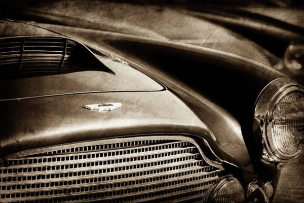 Photograph - 1960 Aston Martin Db4 Series II Grille - Hood Emblem -1206s by Jill Reger
