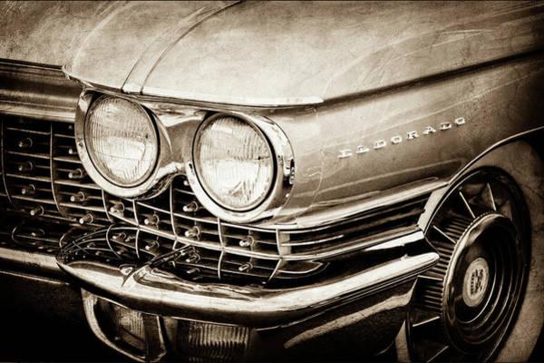 Eldorado Photograph - 1960 Cadillac Eldorado Grille Emblem -0263s by Jill Reger