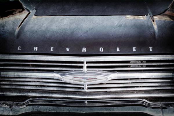 Wall Art - Photograph - 1960 Chevrolet El Camino Grille Emblem -0097ac by Jill Reger