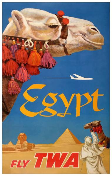 Wall Art - Digital Art - 1960 Egypt Twa David Klein Travel Poster  by Retro Graphics