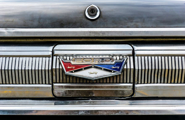 Wall Art - Photograph - 1960 Ford Falcon Trunk Lid Emblem by Jim Hughes