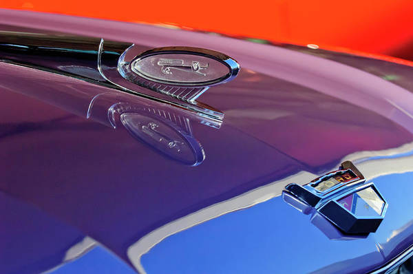 Hoodie Photograph - 1960 Ford Starliner Hood Ornament by Jill Reger