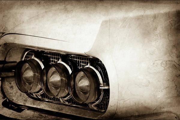 Wall Art - Photograph - 1960 Ford Thunderbird Taillight -0574s by Jill Reger