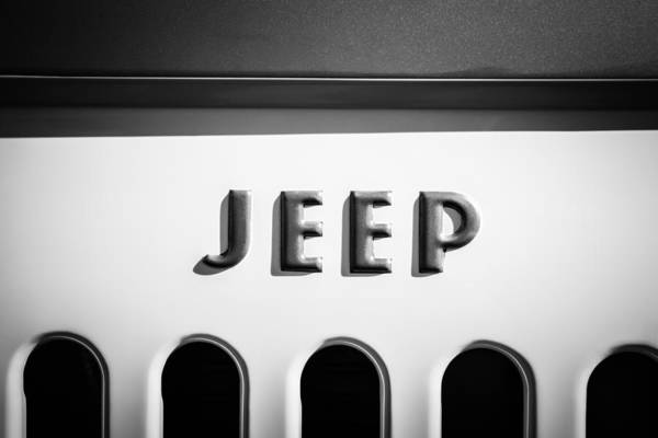 Wall Art - Photograph - 1960 Forward Control Jeep Fc-170 Emblem -1642bw by Jill Reger