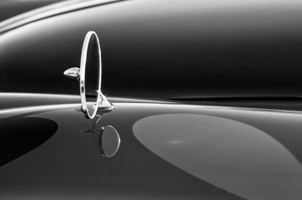 Photograph - 1960 Jaguar Xk150 Roadster Side View Mirror -0553bw by Jill Reger