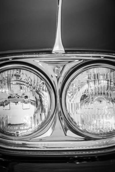 Wall Art - Photograph - 1960 Rolls-royce Phantom V Sedanca De Ville Head Lights -1094bw by Jill Reger