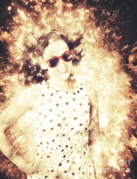 Shattered Photograph - 1960s Pinup Bombshell by Jorgo Photography - Wall Art Gallery