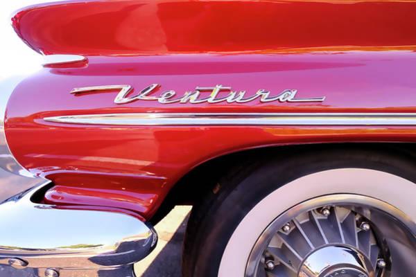 Wall Art - Photograph - 1960s Pontiac Ventura Fender And Logo by Jon Woodhams